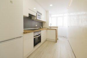 Kitchen of concrete modular houses